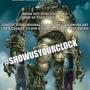 CLOCKWERX #SHOWUSYOURCLOCK contest: Mech Design Winner Gets a Free Signed Copy of Steampunk Thriller