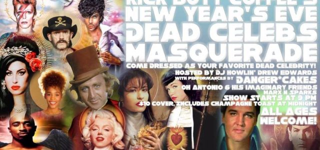 Press Release:  New Years Eve Dead Celebs Masquerade in Austin, TX!